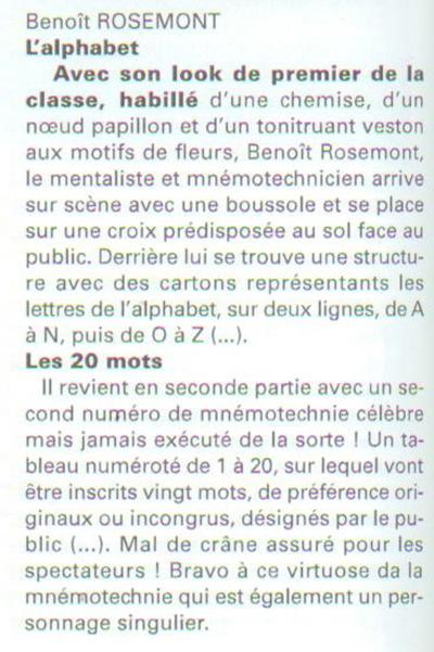Table Mentalist in Paris