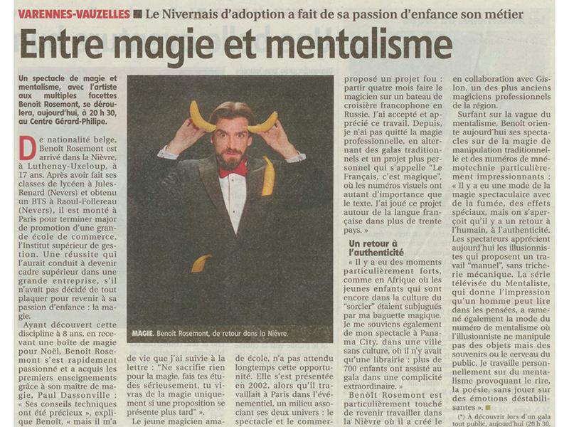 Mentalista en Paris, Francia