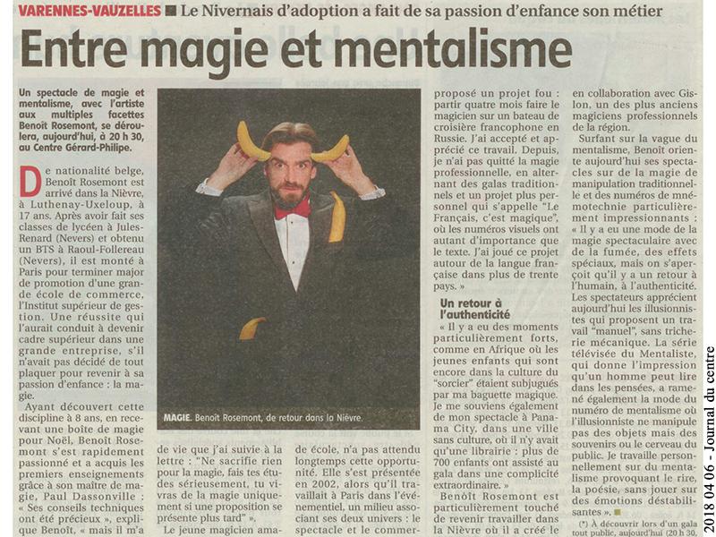 Spectacle de mentalisme en région parisienne