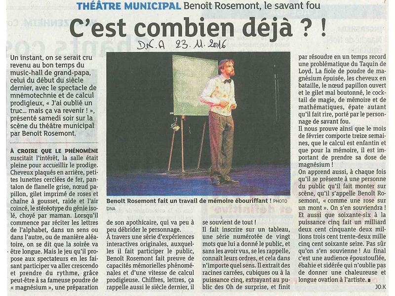 Animation mentale, Benoît Rosemont